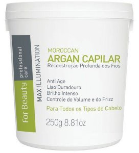 For Beauty - Gloss Max Illumination Argan Oil Rejuvenescedor Capilar 250 gr