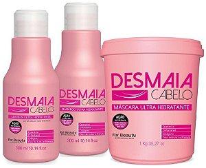 For Beauty KIT Desmaia Cabelo 03 Produtos Com Mascara 1 Kg