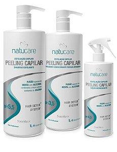 NatuMaxx – Kit Profissional Esfoliação Capilar e Peeling  Natucare 03 Produtos