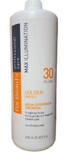 Água oxigenada  Cremosa Golden Perfect 30 Vol. For Beauty 900ml