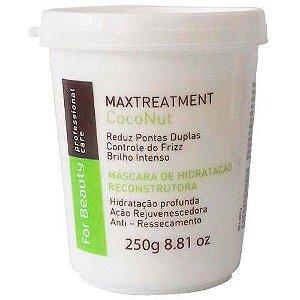 Mascara de Hidratação Reconstrutora Max Treatment Coconut For Beauty 250 gr