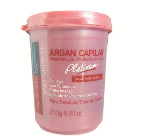 For Beauty Argan Reconstrução Platinum Max Illumination - 250 gr