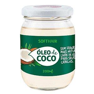 Soft Hair Óleo de Coco Vegano Sem Fragrância Mais  Natural