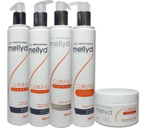 Linha Cachos Curling Mellidy Capelli Kit Completo 05 Itens