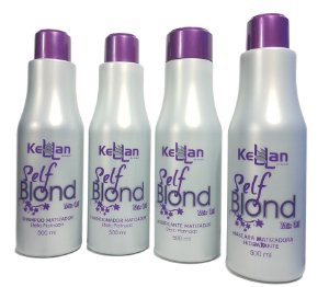 Kellan Kit Matizador Self Blond Completo Mix Oil Efeito Platinado