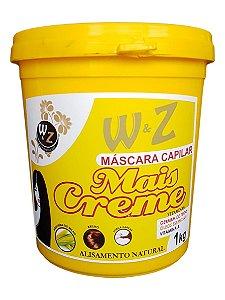 WZ Cosméticos Mais Creme Máscara Capilar Alisamento Natural 1kg