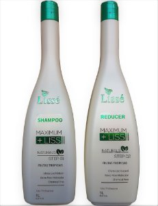 Kit Lissé Progressiva Shampoo e Reducer Maximum Liss Naturals 1L