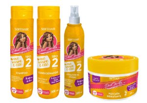 Soft Hair Deu Onda  Cabelos Tipo 2 Que Volume é Esse Kit Completo