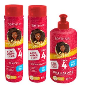 Soft Hair Cachos Tipo 4 A,B e C Low Poo Kit Completo