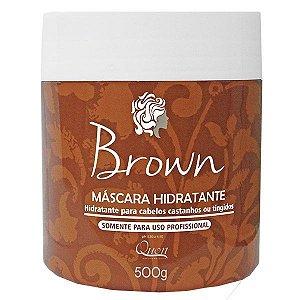 Quon Cosméticos Brown Máscara Hidratante Tonalizante cabelos Castanhos