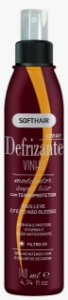 Soft Hair Spray Defrizante Vinho Termoprotetor  Modelador Super Liso 140mL