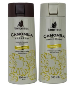 Barrominas Camomila Shampoo e Condicionador Cabelos Claros