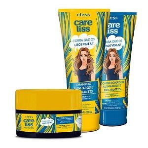 Cless Care Liss Lisos Alinhados e Brilhantes Kit Completo