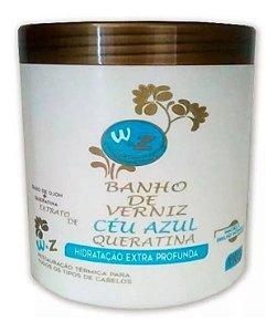 WZ Banho de Verniz Céu Azul Queratina Hidratação Profun/da 1Kg