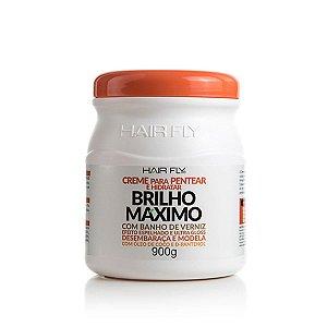 Hair Fly Brilho Máximo Creme Para Pentear e Hidratar Banho de Verniz