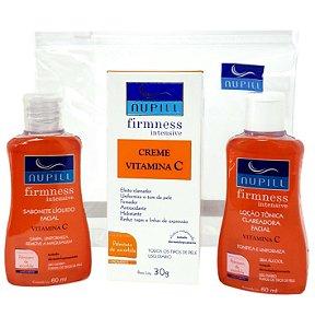 Vitamina C Nupill Firmness Intensive Tratamento Facial Clareador Firmador Kit 3 Passos