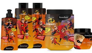 Os Incríveis Kanechom Kit Completo Super Cabelos Para Toda Familía