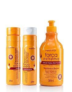 Hair Fly Força Extrema Resistência a Quebra Kit