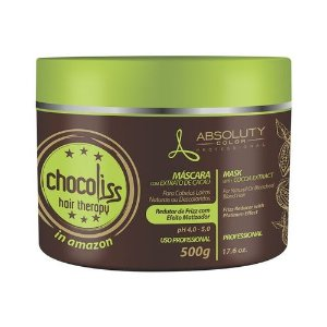 Chocoliss Hair Therapy  Absoluty Color Máscara Redutor de Frizz Matizadora 500g