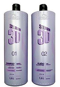 Absoluty Color Selagem 3D Shampoo Dilatador e Fluído Redutor de Frizz