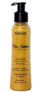 Keranza Ouro Indiano Fluído Finalizador Termoativado Efeito Iluminador 120mL