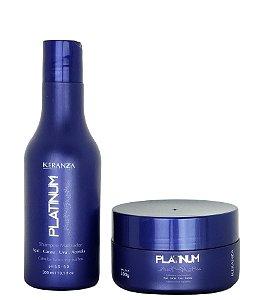 Platinum Kit Matizador Keranza Shampoo e Máscara 300mL