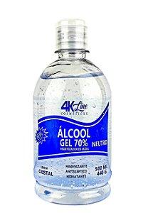 Alcool Gel 70 Para Mãos Antisséptico 4k Line 500mL