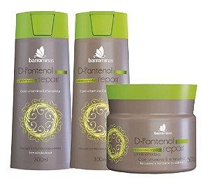 D-pantenol Repair Barrominas Kit Shampoo Condicionador e Máscara