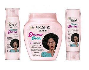 Skala Crespo Divino Kit shampoo Condicionador e Máscara 2em1