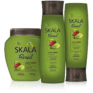Skala Brasil Kit Shampoo, Creme de Tratamento e Condicionador Café Verde e Ucuuba
