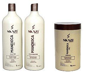 Skazi Cosméticos Mandioca +Mel Kit Completo Reconstrução E Brilho