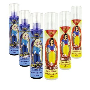 Spray Bifásico Efeito Mágico Matizador 3 Un +Spray Bifásico Sete Encantos 3 Un  Para Revenda