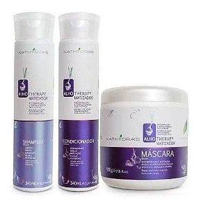 Kit Matizador Alho Therapy Nathydras Shampoo,Condicionador E Máscara