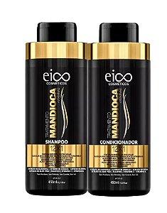 Kit Shampoo + Condicionador Tratamento Mandioca + Vitaminas 12×1 Eico 450 mL