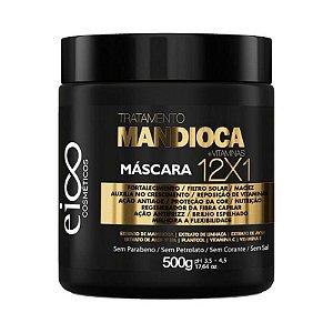 Eico Cosméticos Máscara Capilar Tratamento Mandioca+Vitaminas 12x1 500g