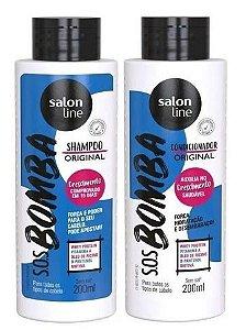 Tratamento Para Crescimento Capilar S.O.S Bomba Kit Shampoo+Condicionador 200 mL