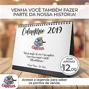Calendário de mesa CãoViver 2019