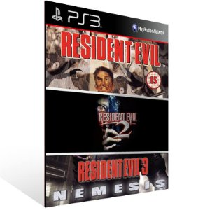 Combo Resident Evil 1 2 3 - Ps3 Psn Mídia Digital