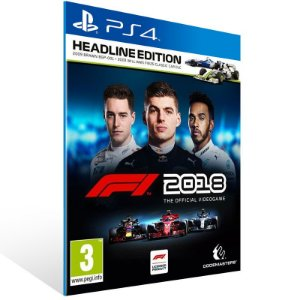 F1 2018 Headline Edition - Ps4 Psn Mídia Digital