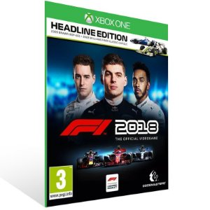 F1 2018 Headline Edition - Xbox One Live Mídia Digital