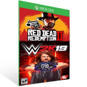 Combo Red Dead Redemption 2 + WWE 2K19 - Xbox One Live Mídia Digital