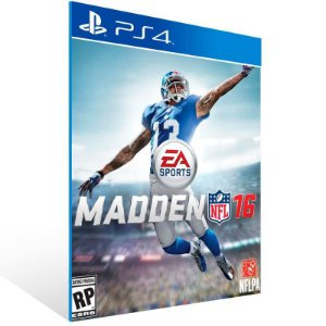 Madden Nfl 16 Standard Edition - Ps4 Psn Mídia Digital