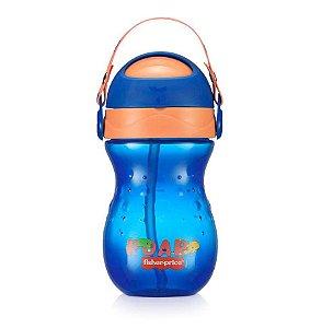 Copo Para Bebê Com Canudo Playful Azul Twist Fisher Price
