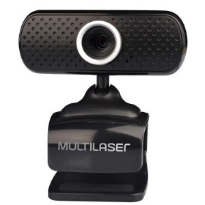 Webcam Plug e Play 480p Microfone USB Preto Multilaser WC051