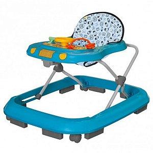 Andador para Bebê Musical Safari Tutti Baby Azul