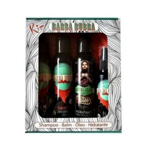 Kit Barba Combinação Perfeita Shampoo, Balm, Oleo, Hidratante