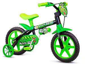 Bicicleta Infantil Menino ARO 12 Black Nathor