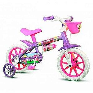 Bicicleta Infantil Menina ARO 12 Violet 3 Nathor