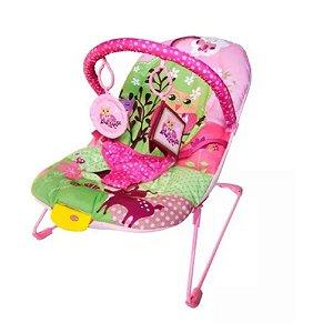Cadeira de Descanso Musical para Bebê Soft Ballagio Rosa