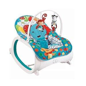 Cadeira de Descanso Musical para Bebê Safari Azul